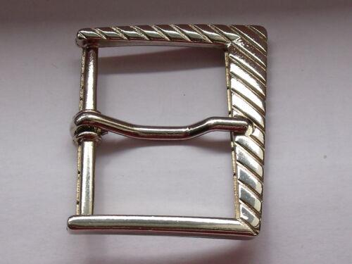 Gürtelschnalle Schließe Schnalle Verschluss 4 cm silber NEUWARE  rostfrei  #341#