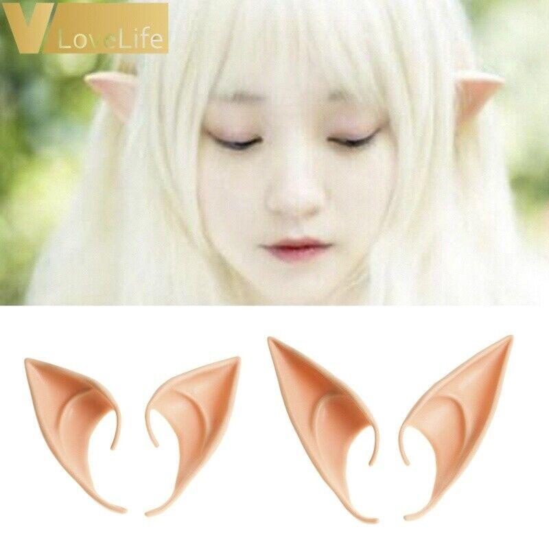Chic Halloween Costume Elf Fairy Ear Tips Hobbit Vulcan Spock Alien Cosplay Kits