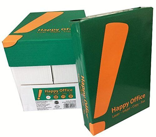 2500 Blatt Happy Office 80g//m² Papier DIN A4 Kopierpapier HappyOffice weiß