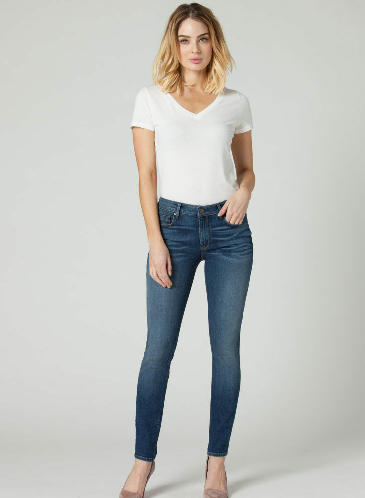 NEW Parker Smith KAM SKINNY IN CHARMING WOMEN'S 14=32 blueE MADE USA