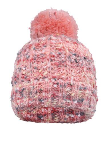 Women/'s Girls Warm Beanie Knit Crochet Pom Ski Hat Thick Winter Cap