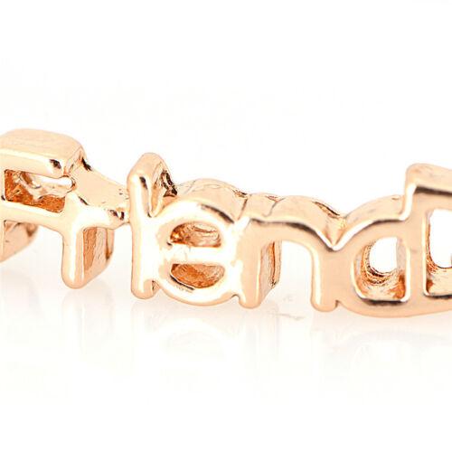 Letters Friendship Chain Bracelet Gift Best Friend Anklet Chain Jewelry S/&K