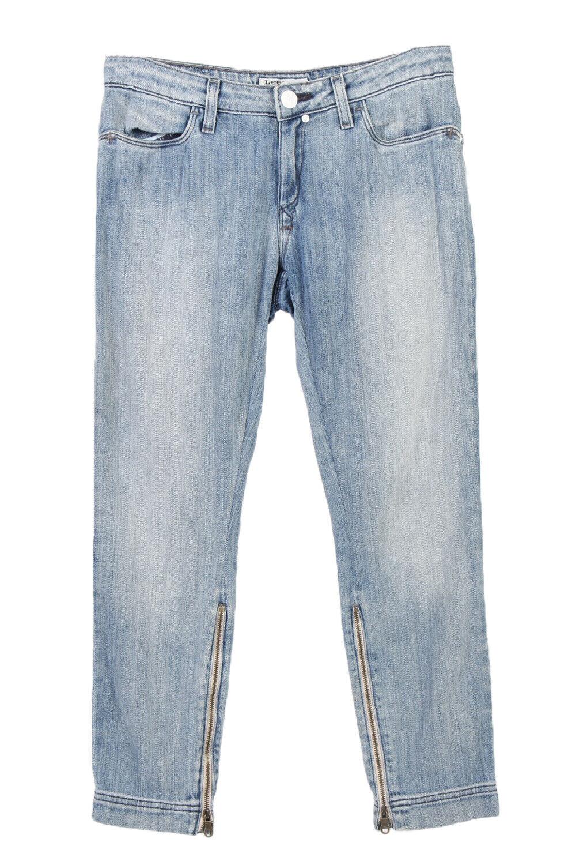 Vintage Lee Slim/Skinny Stone Washed Denim Jeans Faded W28 L25 Ice Blue - J3895