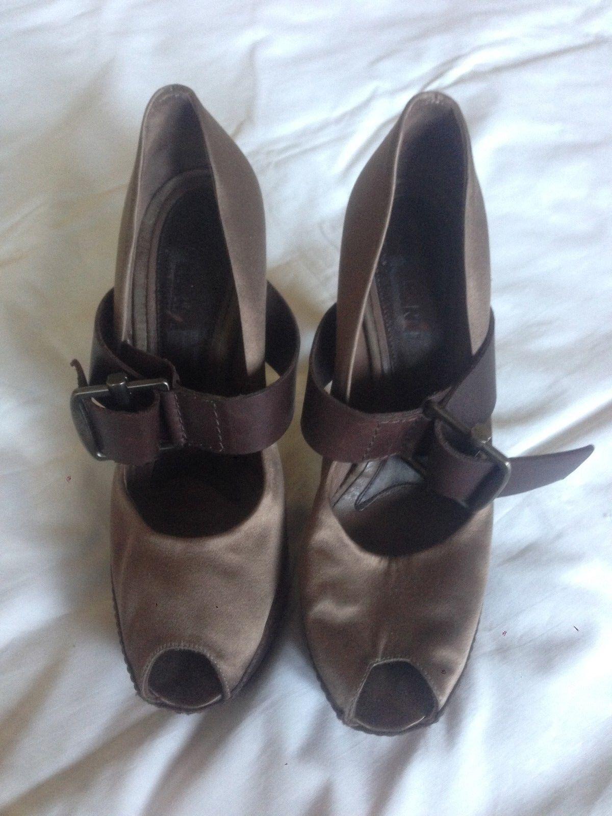 Sandali MARNI in raso usati - colore tortora - usati raso - taglia 40 4c7a9f