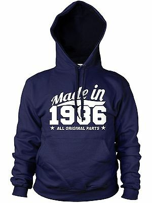 100% Wahr Made In 1986 All Original Parts Hoodie Mens Womens Family Funny Gift 80s Present Feines Handwerk