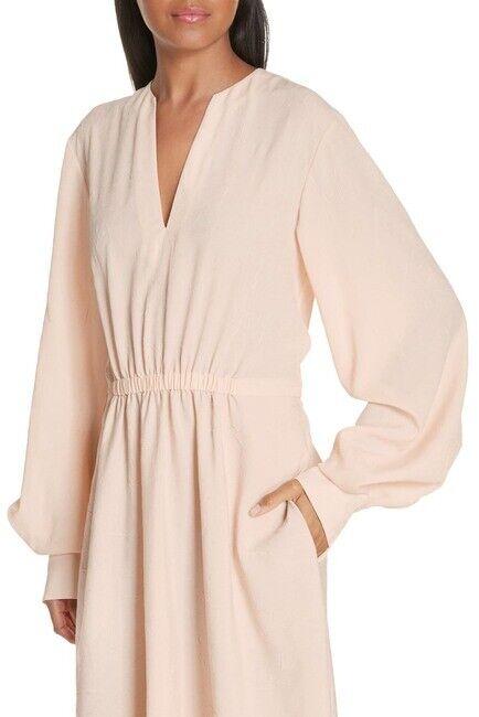 NWT  Vince Poet Midi Dress Beige Sandalwood Size M
