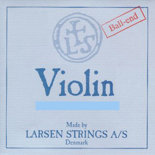 Genuine Larsen Violin String Set  4 4  E Loop Medium