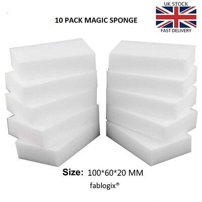 Magic Sponge sponges10 pack cleaning Melamine Foam Eraser Stain Dirt Remover UK