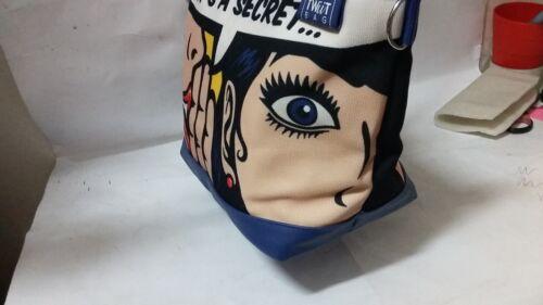 Bag Donna Con Twiit In Spallina Regolabile Tessuto Tracolla Borsa E X Manici 2 qRfExq