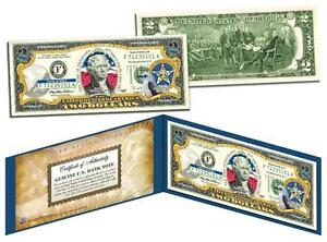 OKLAHOMA Statehood $2 Two-Dollar Colorized U.S. Bill OK State *Legal Tender*