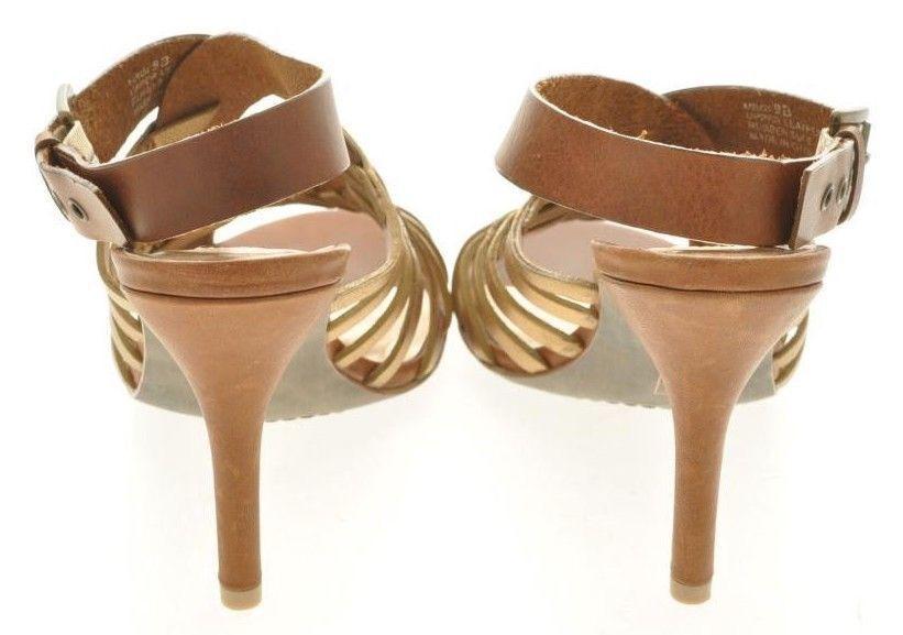 Nouveau STEVEN By Steve Madden Femmes Marron Marron Marron Cuir Bride Arrière Sandale Chaussure Sz 9 m bc2f9c