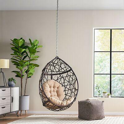 Layden Indoor Outdoor Wicker Hanging, Hanging Egg Chair Outdoor No Stand