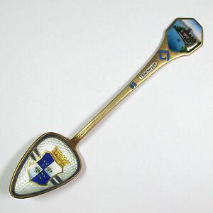 Andenkenloeffel-mit-Emaille-Tegernsee-800-Silber-vergoldet-1941