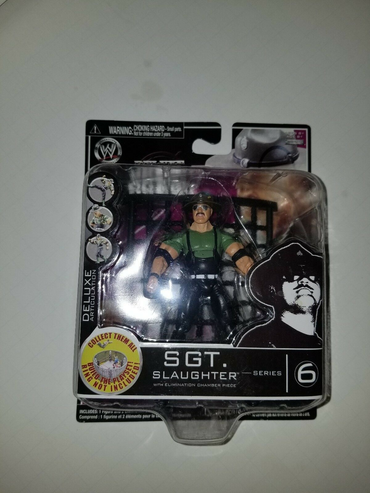 Build N' Brawl SGT Slaughter Series 6 Jakks Pacific WWE Deluxe