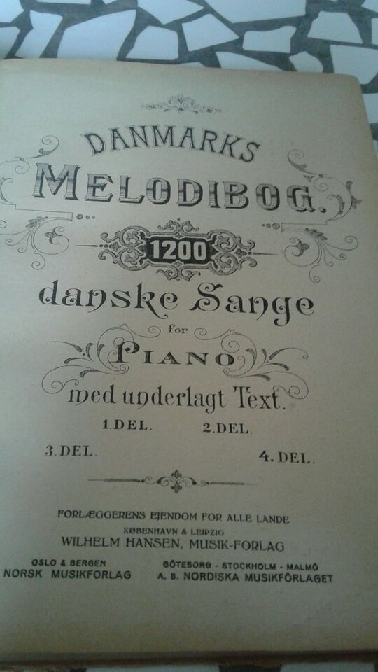 Piano, Danmarks melodi bog del to