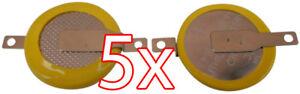 5 X Cr1616 3v Batterie Lötfahnen Knopfzelle Tabs Gameboy Color Elektromaterial Advance Spiele Angenehm Zu Schmecken Akkus & Batterien