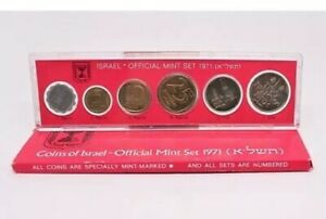 Coins-of-israel-Official-Mint-set-1971-mint-marked