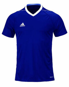 Details about ADIDAS YOUTH JUNIOR TIRO 17 BLUE WHITE SOCCER FOOTBALL JERSEY w CLIMACOOL SIZE M