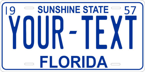 Florida 1957 License Plate Personalized Custom Auto Car Bike Motorcycle Moped