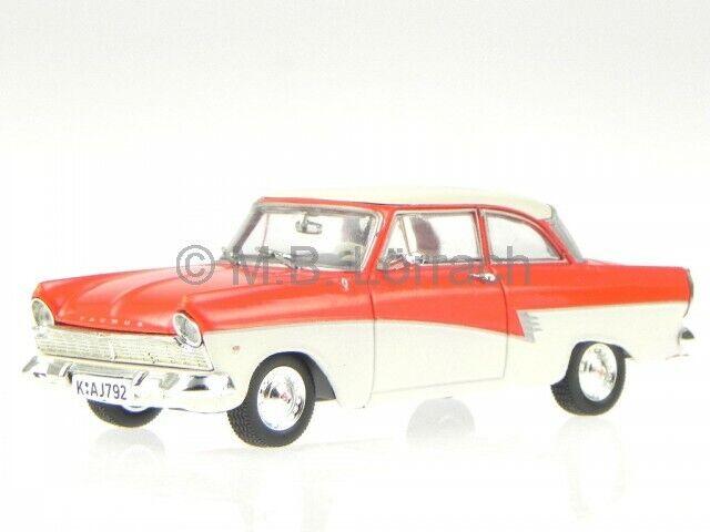 Ford Taunus 17M P2 Coupe de Luxe 1958 röd vit tärningskast modellllerlbil 1  43