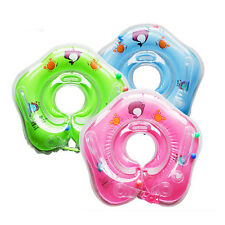 Hot Cute PVC Inflatable Swim Float Neck Ring with Small Bell Hand Grip for Baby
