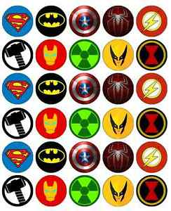 Enterprising image regarding superhero cupcake toppers printable