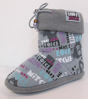 Chicas Camp Rock Gris textiles Bota Corta Zapatillas