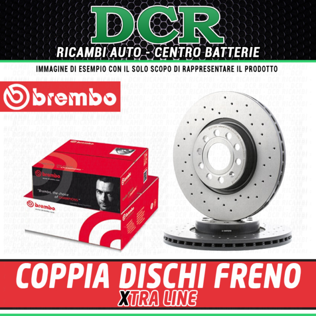 Par de Discos de Freno Brembo Xtra Línea Xtra Línea 0978061X Ford Mazda