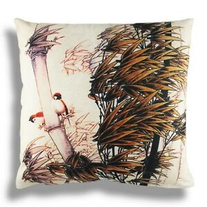 New Oriental Chinese Style Bamboo Sparrow Home Pillow Case Cushion Cover 18 eBay