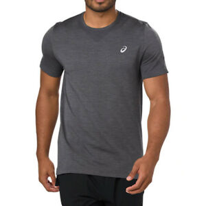 Asics-Mens-Seamless-Short-Sleeve-Running-T-Shirt-Tee-Top-Grey-Sports-Breathable