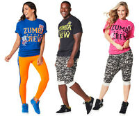 Zumba Fitness Crew Tee Black Blue Pink T-shirt -