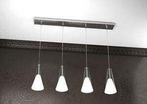 lampadario lampada sospensione barra calata cromo design moderno ...