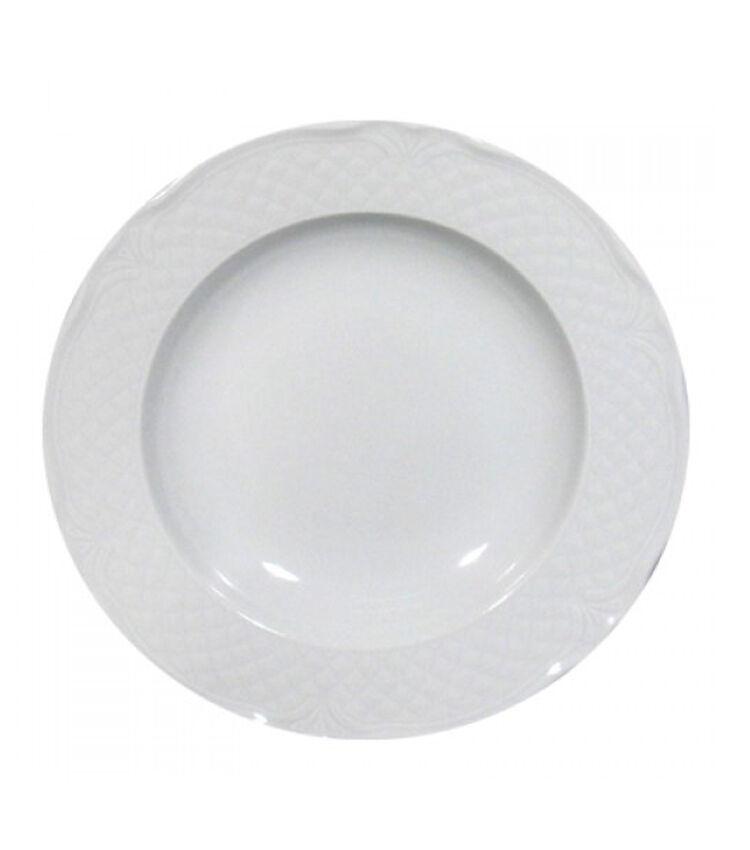 60 Piatti SATURNIA di porcellana Malaga Piatto rossoondo bianco Ø 31cm sottopiatto