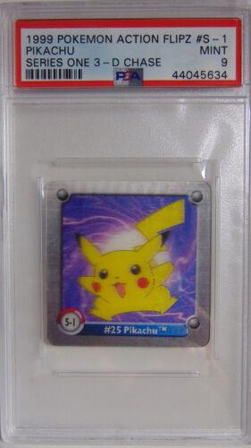 Pikachu Action Flipz S1 Series 1 3D Chase PSA 9 Pokemon Mint Rare