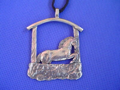 Conter #37F Arabian Horse Head pin saluki Pewter horse dog jewelry by Cindy A