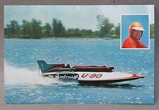 rare large 1965 MISS SMIRNOFF Wild Bill Cantrell postcard hydroplane boat racing