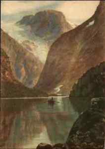 NORWEGEN-Norge-Norway-1940-50-Landscape-Loenvatn-Fjord-Nordfjord-Ansichtskarte