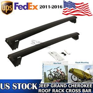 roof rack cross bars set bike oem 82212072ac for 2011 2017 jeep grand cherokee ebay. Black Bedroom Furniture Sets. Home Design Ideas