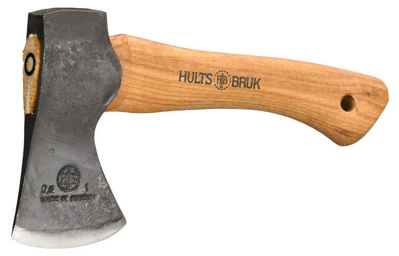 Hults Bruk Hultafors 9.5  Jonaker Hatchet w  Leather Sheath Made in Sweden