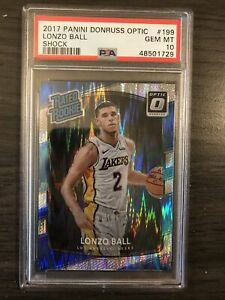 2017-18-Donruss-Optic-Lonzo-Ball-Rated-Rookie-Shock-PSA-10-Lakers-Pelicans-RC