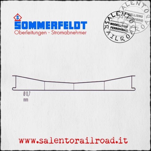 SOMMERFELDT 141 Catenary Steel Auburn 0,7mm - Length 188 MM - 5 Pieces