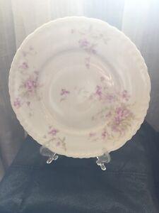 "Theodore Haviland Limoges 8-3//4/"" Salad //Cake Plate Pink Roses"