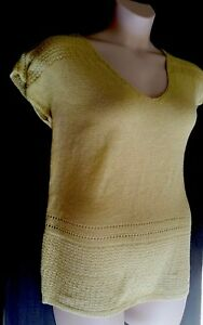 Ladies-Knit-Top-1XL-Katies-Yellow-Chartreuse