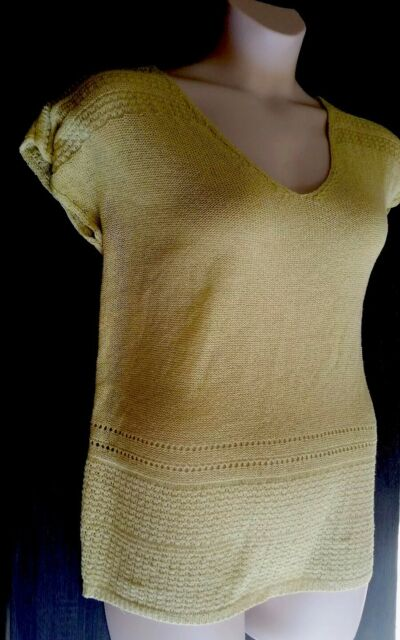 Ladies Knit Top 1XL Katies Yellow Chartreuse