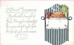 Happy-Thanksgiving-Turkey-Platter-Postcard-Shield
