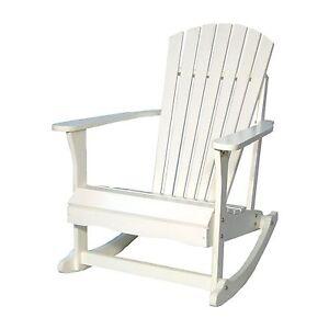 International Concepts White Adirondack Rocker R 52581 Rocking Chair