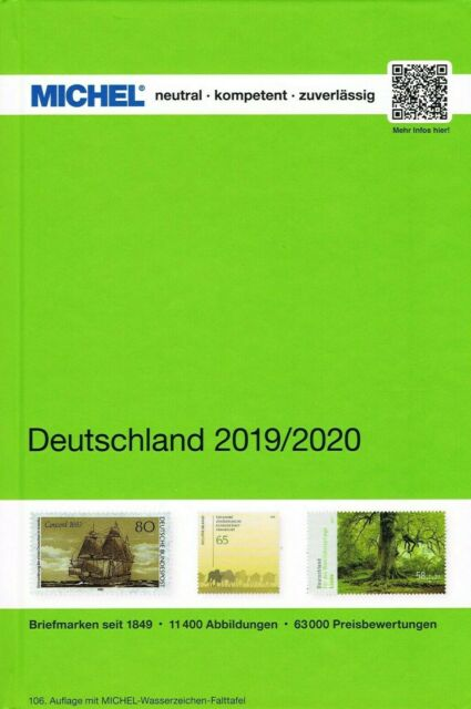 MICHEL CATALOGO GERMANIA 2019/2020 A COLORI DEUTSCHLAND NUOVO