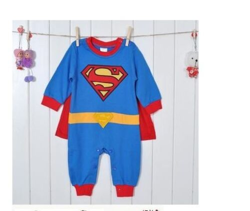 Baby Kleinkind Kostüm-party Langärmlig Superman Kostüm Größe 3-24 Monate