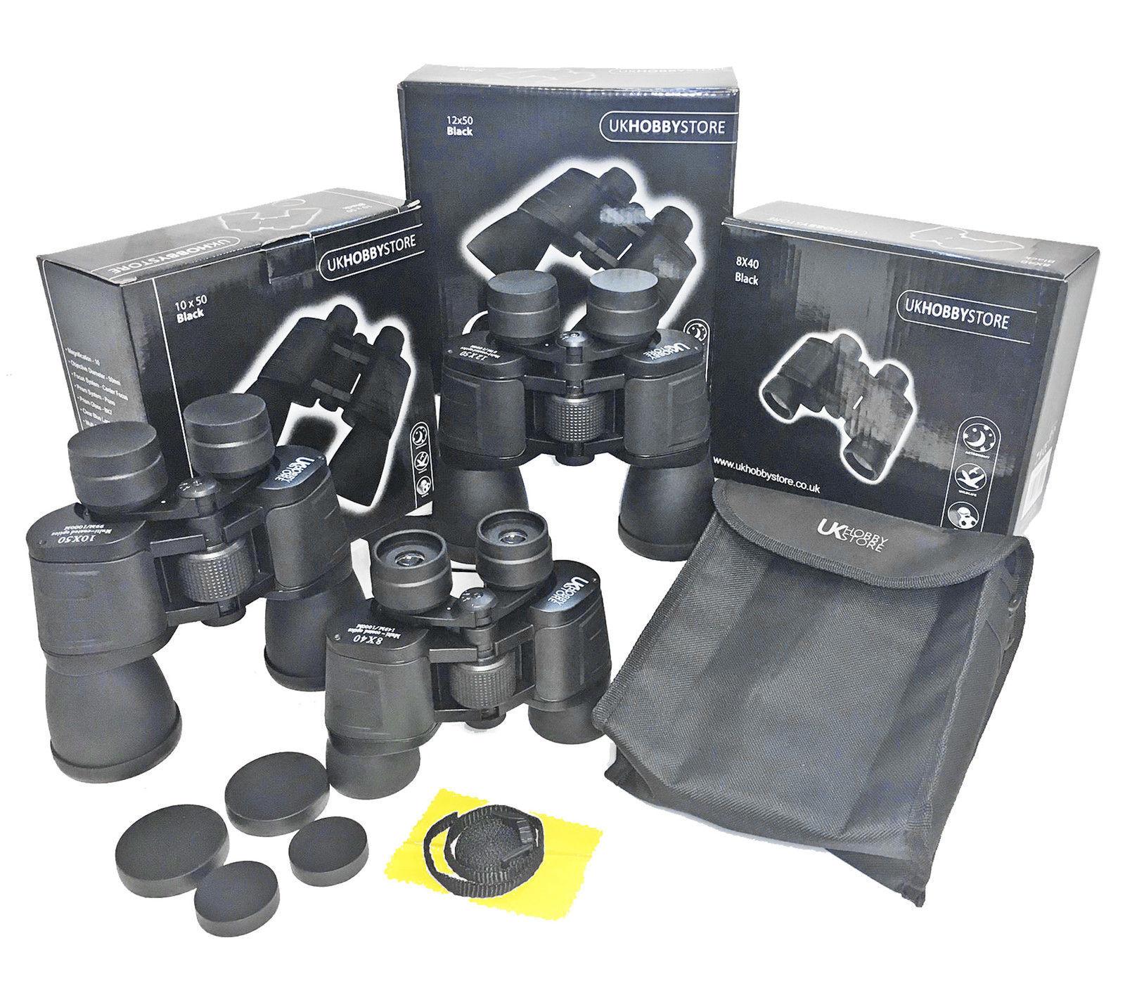 Bargain High Quality Porro Prism Binoculars 8x40 10x50 or 12x50 Fast Free UK P&P