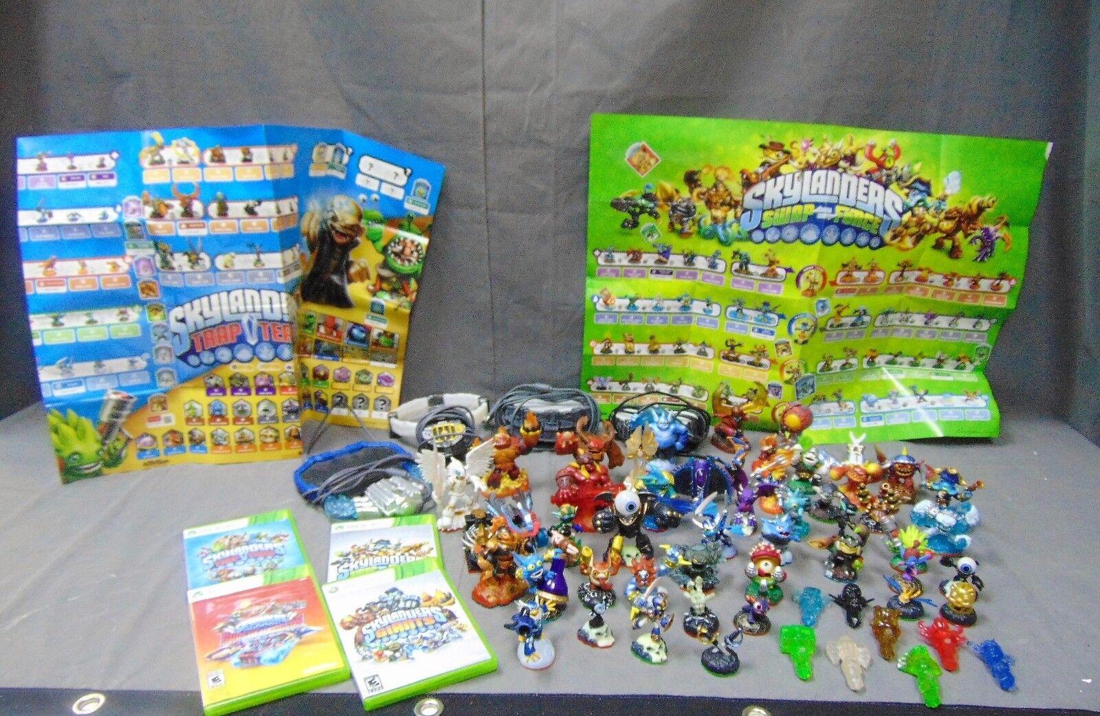 Enorme Lote de videojuegos portales trampas Juego Skylanders figuras de caracteres gráficos